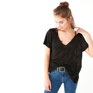 Project Social T x UO Textured Knit V-Neck Tee